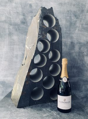 Sweeping slate wine rack