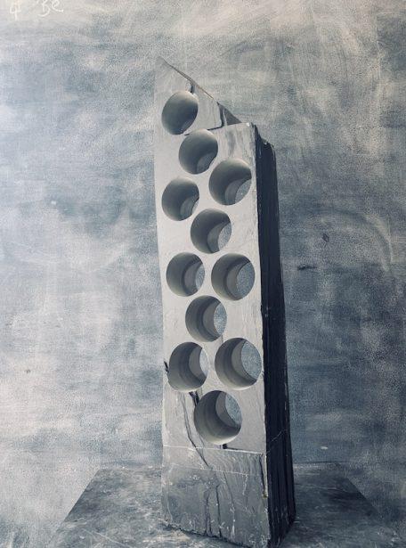 Sophisticated slate wine rack