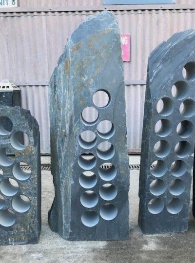 Refined slate wine rack
