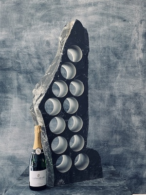 Graceful slate wine rack
