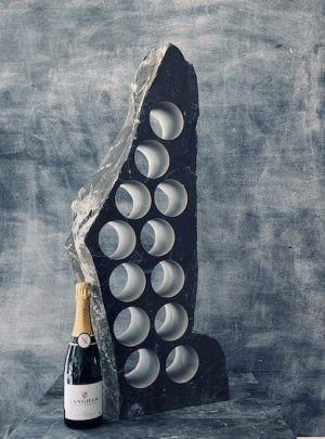 Graceful slate wine rack