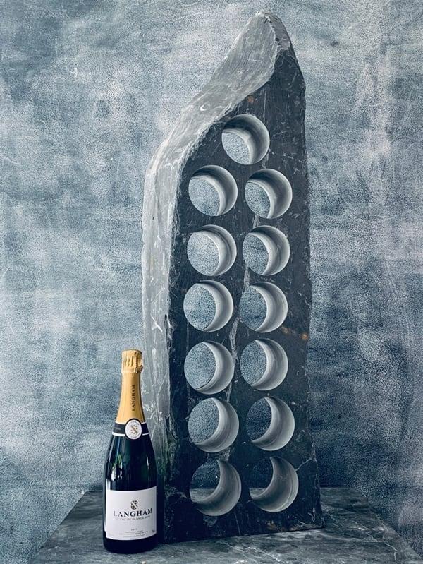 Artistic slate wine rack