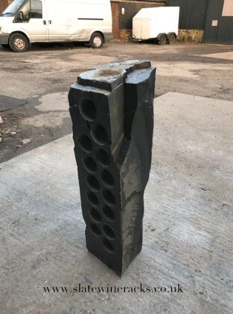 Solid block wine rack