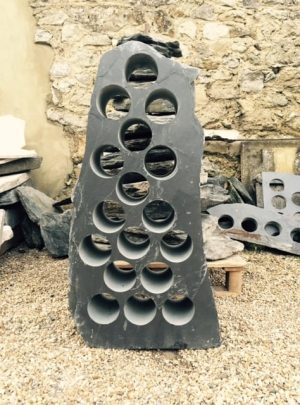 Alternating slate wine rack