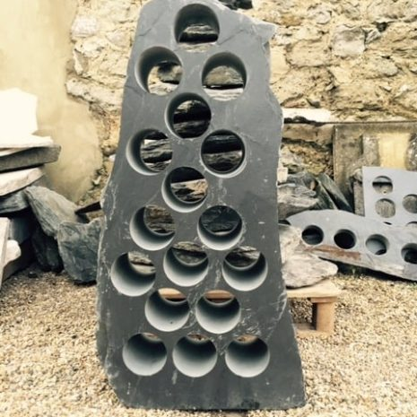 Alternating slate wine rack