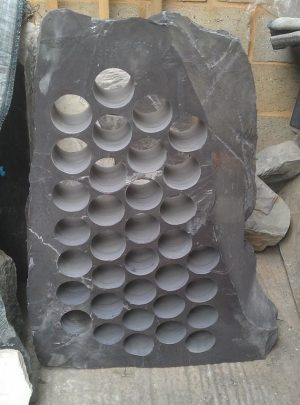 Plum slate wine rack