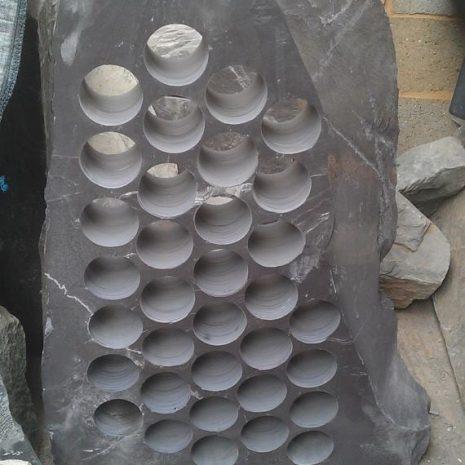 Plum slate wine rack