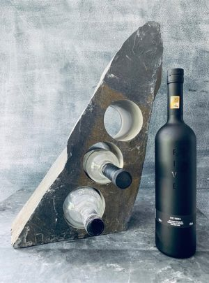 Pure slate wine rack