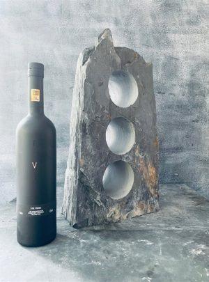 Organic slate wine rack