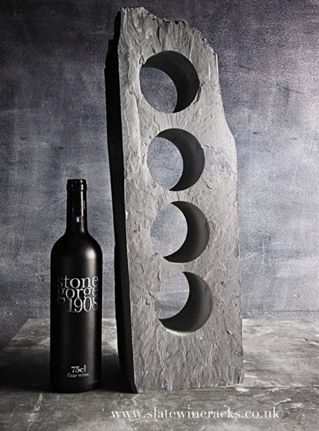 Flakey slate wine rack