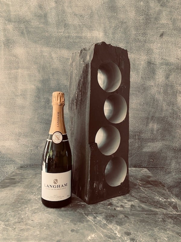 Mini slate wine rack