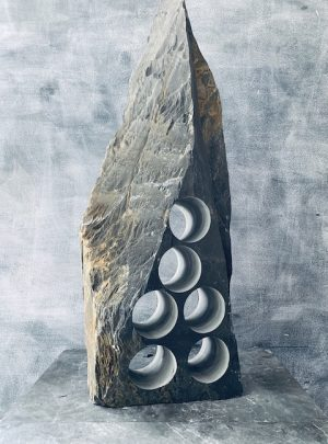 Exquisite slate wine rack