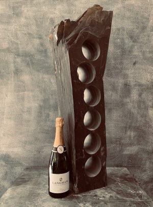 Luxurious slate wine rack