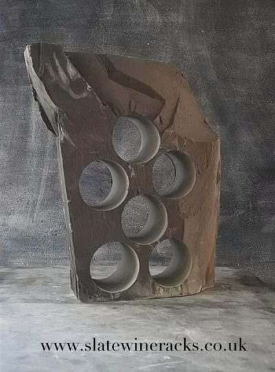 Unique slate wine rack