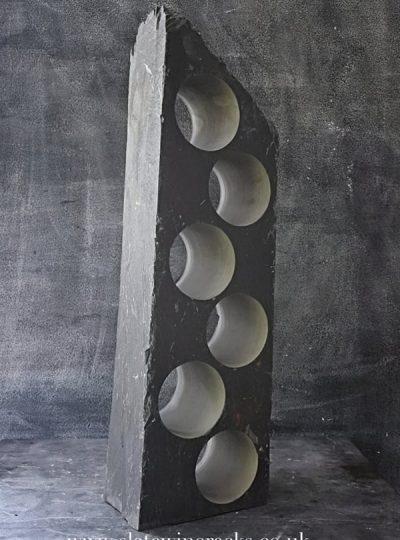 Vintage slate wine rack