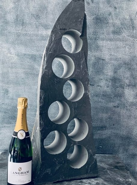 Nautical slate wine rack