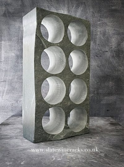 Green slate wine rack
