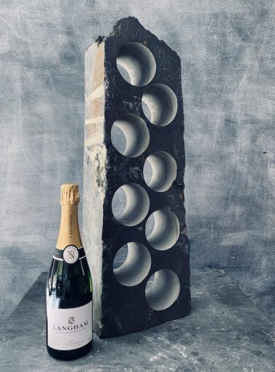 Slate cooler wine rack