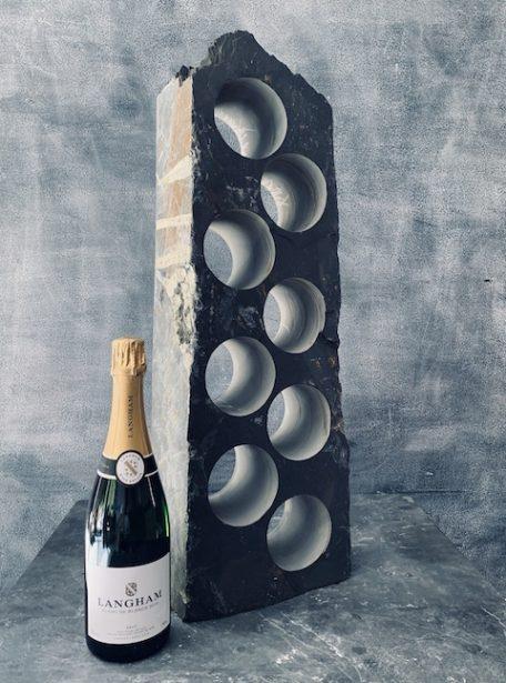 Slate cooler wine rack