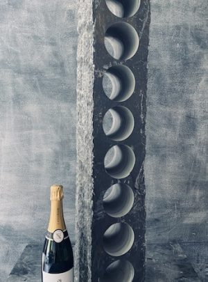 Worktop slate wine rack