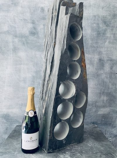 Layered slate wine rack