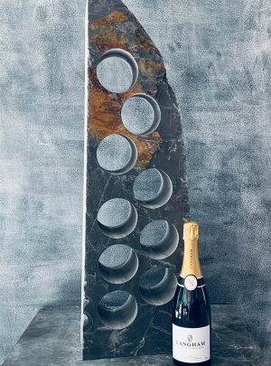 Rustic sail wine rack