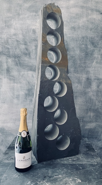 Elegant slate wine rack