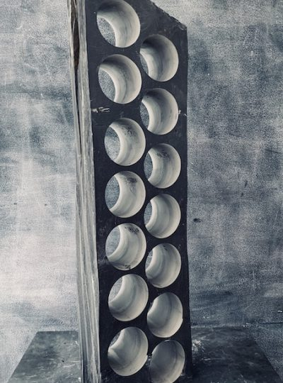 Linear slate wine rack