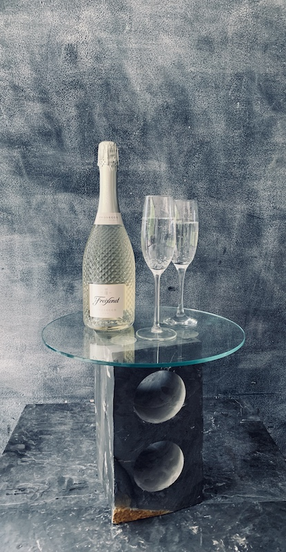 Slate wine table