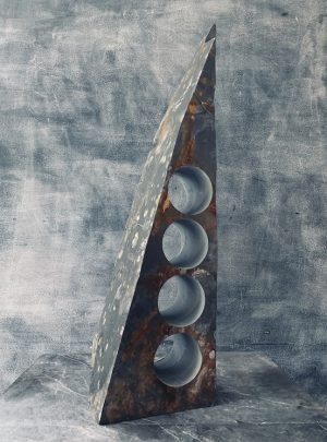 Slanted slate wine rack