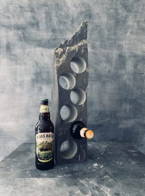 Slate beer bottle rack