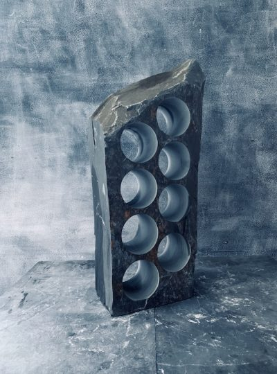 Irresistible slate wine rack