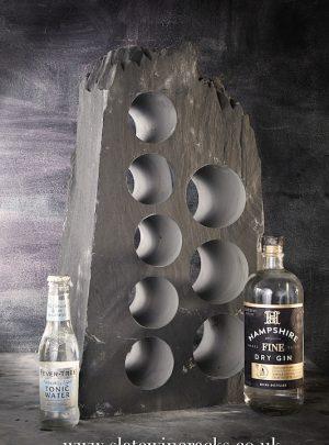 Bespoke slate gin rack