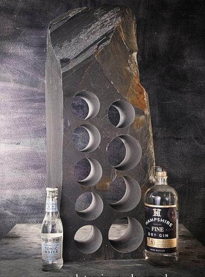 Tall slate gin rack