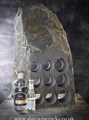 Rustic slate gin rack