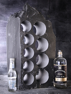 Slate gin tonic rack
