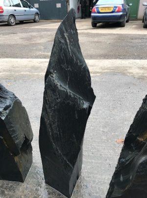 Undrilled slate monolith