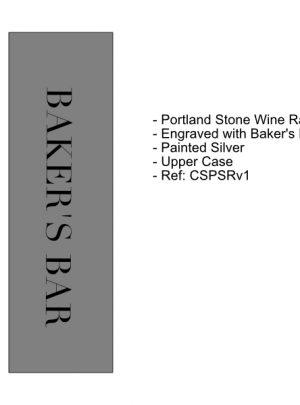 Portland Stone Wine Holder