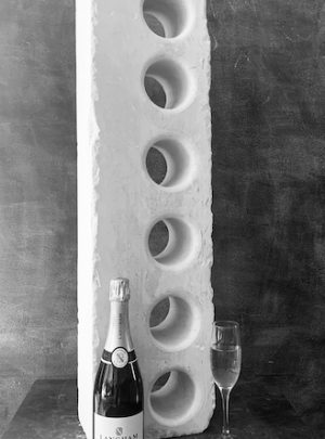 Contemporary Stone Wine Holder