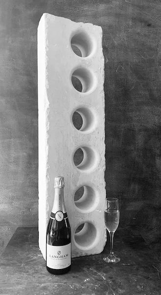 Contemporary Stone Wine Holder