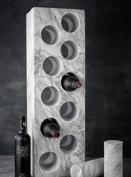Carrara Marble Wine Rack