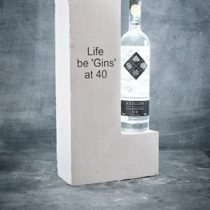 Engraved Portland Stone Wine Rack