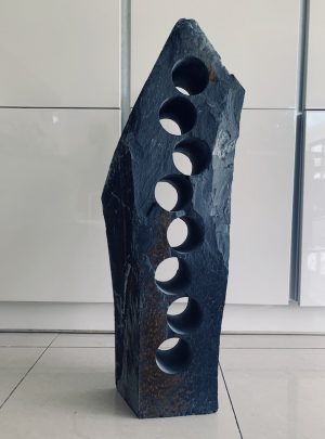 Kitchen slate wine rack