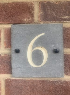 Slate House Sign Number