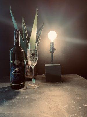 Green Slate Table Lamp